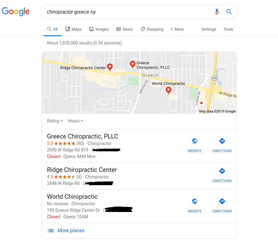 local seo map pack