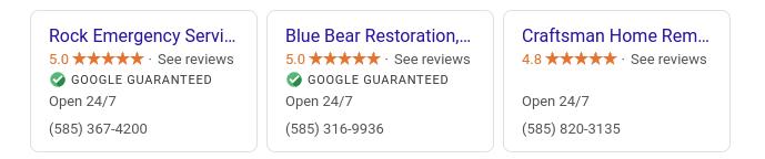 google guaranteed example